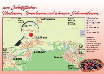 Karte Himbeerfeld